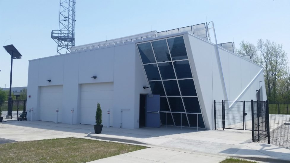 CarbonCast Wall Panels IBEW-NECA Renewable Energy Training Field