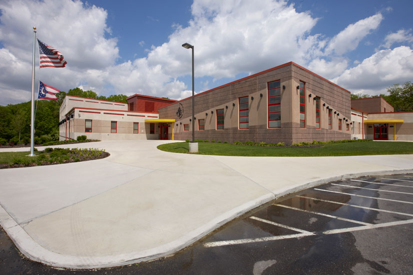 Academy of Multilingual education, precast wall system on exterior