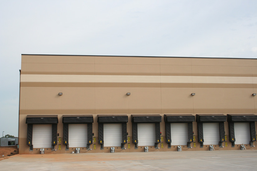 Budweiser Industrial Warehouse, detail on precast High Performance Insulated Wall Panels on exterior