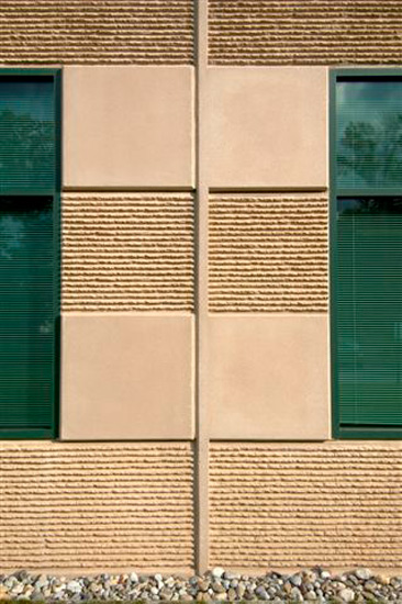 Cadbury Industrial Warehouse, detail on High Performance Insulated Wall Panel on exterior