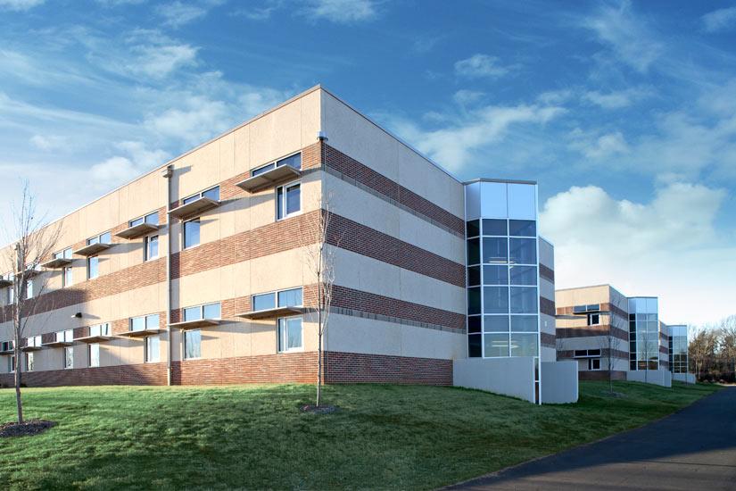 Greenville Carolina High school education, detail on composite panel on exterior