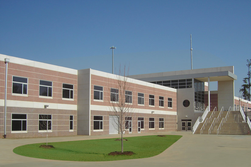 Greenville Carolina High school education, detail on high performance insulated wall panel on exterior