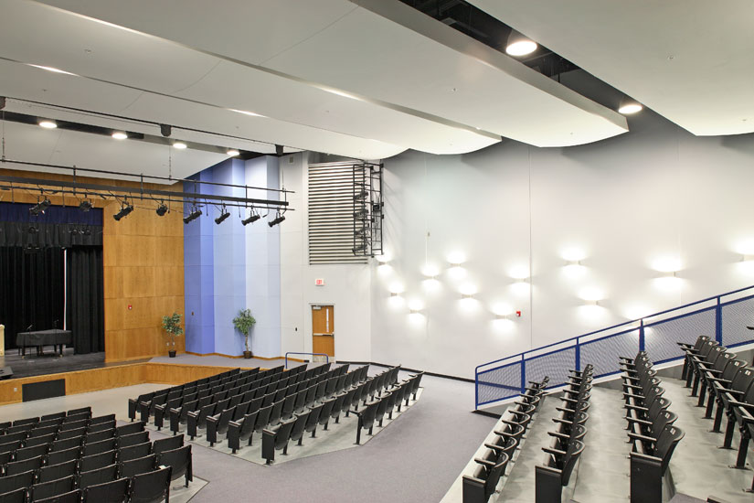 Greenville Carolina High school education, detail on precast panel on interior auditorium