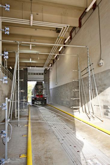 Denver Maintenance Industrial Warehouse, detail on Carboncast Panel on interior