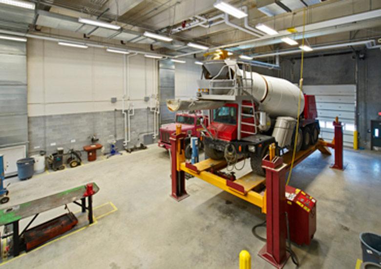 Denver Maintenance Industrial Warehouse, detail on Precast Enclosure System on interior