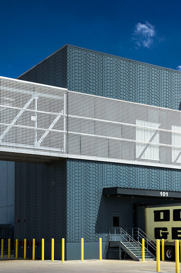 Dollar general industrial warehouse, detail on precast wall panel