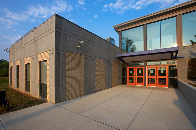 Fairview-Clifton education, detail on carboncast panel on exterior