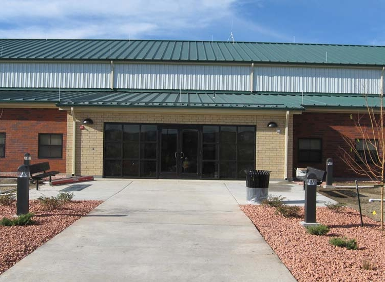 Fort Carson government, detail on high performance insulated wall panel on exterior