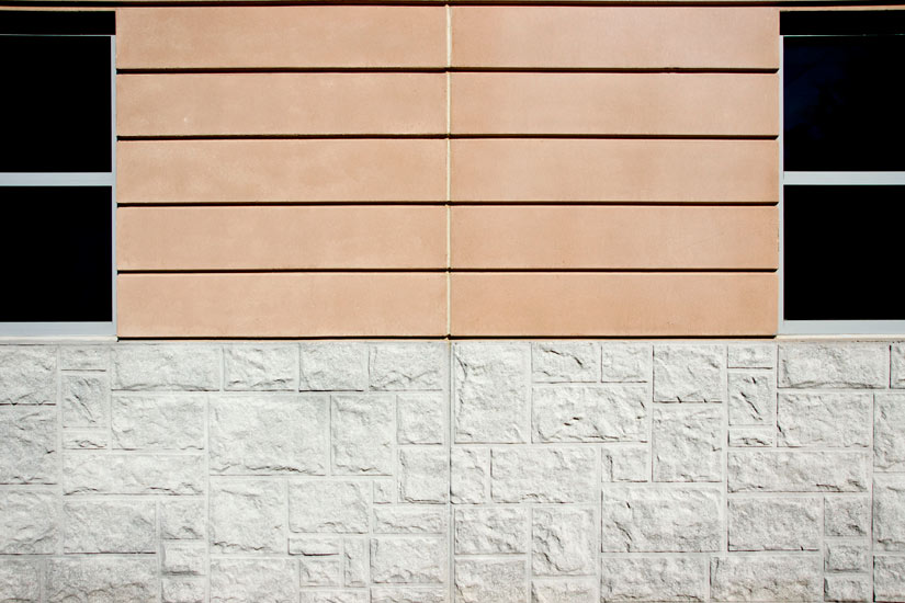 Gwinnett commercial office, detail on high performance insulated wall panel on exterior
