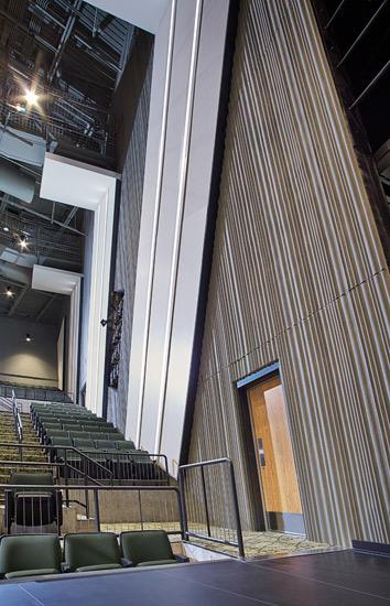 Hempstead High School education, precast wall system on interior