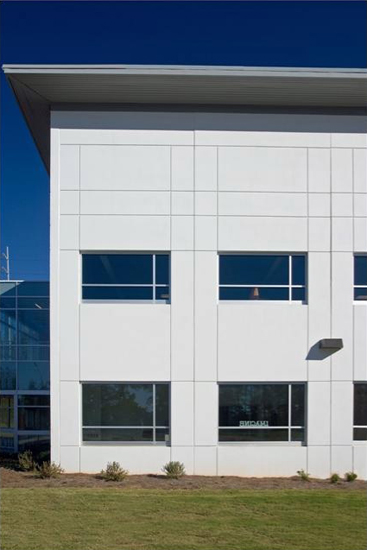 Imagine school education, detail on high performance insulated wall panel on exterior