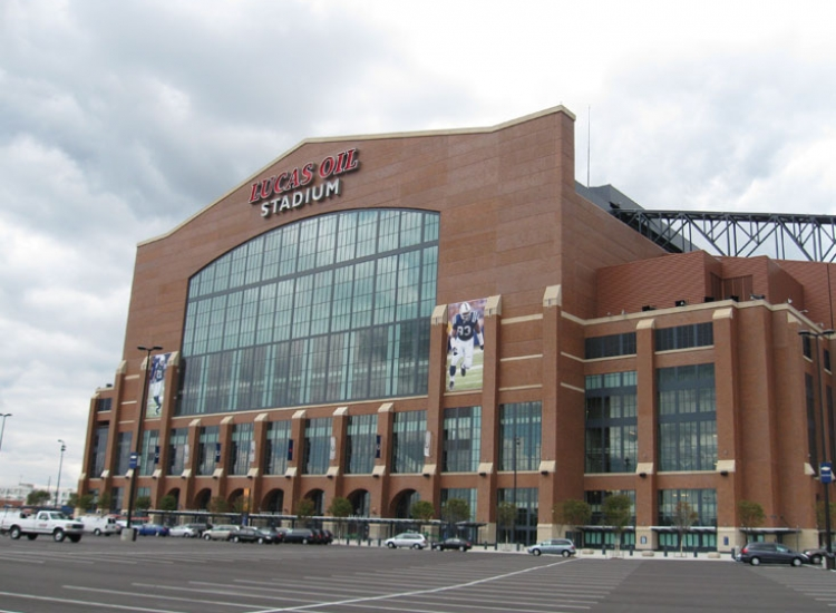 Lucas oil stadium, detail on high performance insulated wall panel on exterior