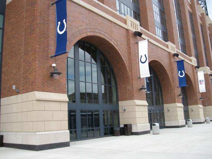Lucas oil stadium, detail on precast panel on exterior arches