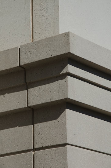 Montclair state university multifamily residential, detail on precast panel on exterior