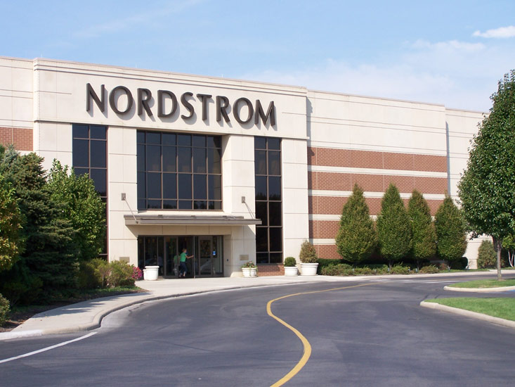 Nordstrom retail, detail on high performance insulated wall panel on exterior