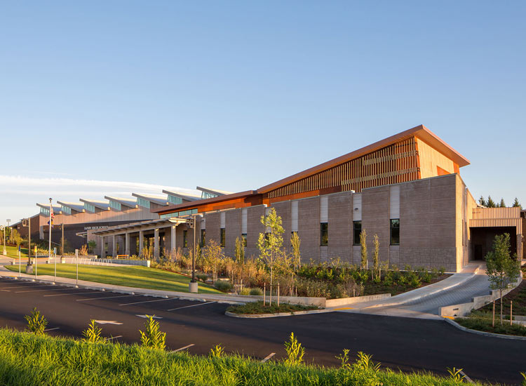 Sanford pentagon education, carboncast insulated wall panel exterior