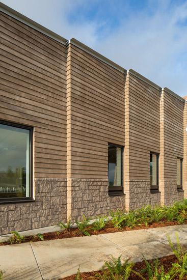 Sandy High School education, detail on precast wall system exterior