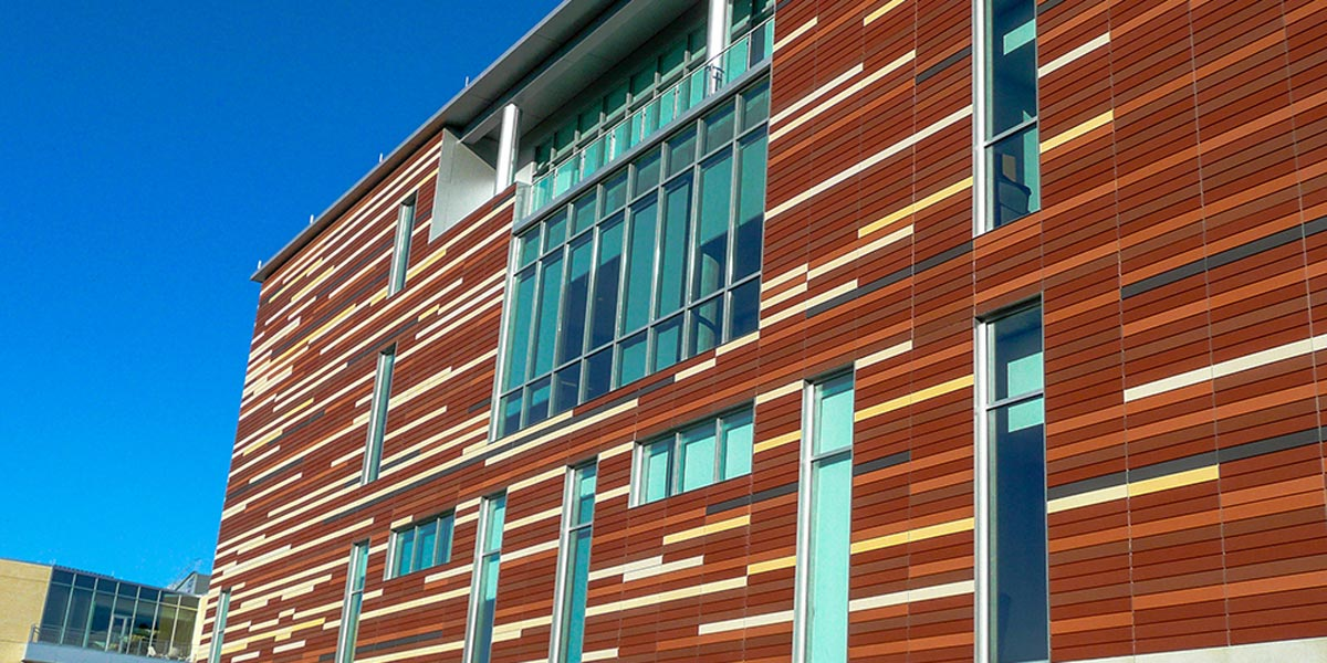 Bloch School of Business built with CarbonCast Enclosure System