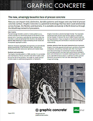cover of Graphic Concrete info sheet