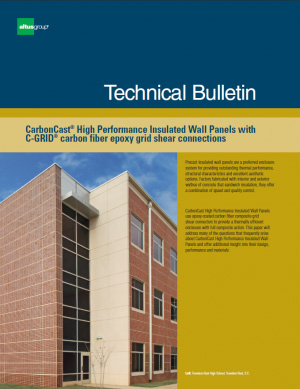 cover of Technical Brief Inside CarbonCast High Performance Insulated Wall Panels