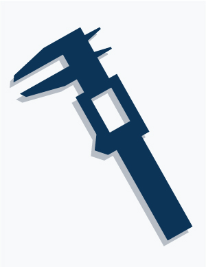 illustration of calipers symbolizing specifications