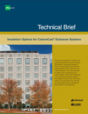 cover of Technical Brief Insulation Options for CarbonCast Enclosure Systems