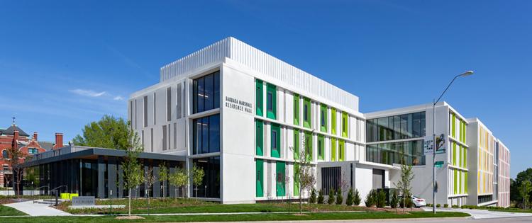 Kansas City Art Institute Student Housing exterior front entrance