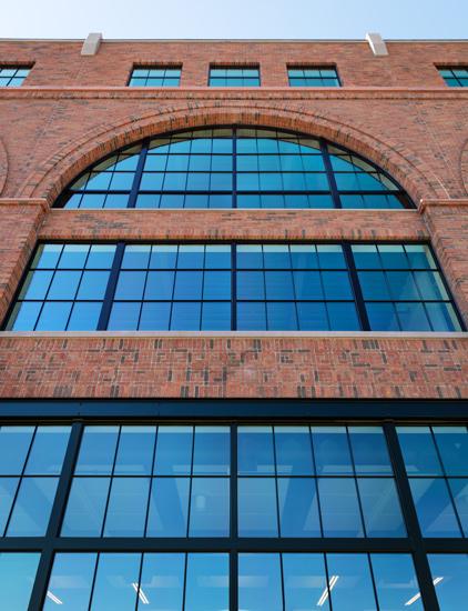 Millwright Building window arch detail