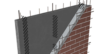 drawing of CarbonCast High Performance Insulated Wall Panel showing interior structure and layers