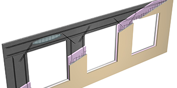 drawing of CarbonCast Insulated Architectural Cladding showing interior structure and layers