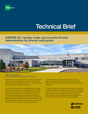 cover image of ASHRAE energy codes and R value tech brief