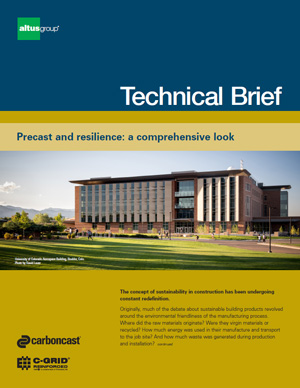 cover image for Precast Tech Brief Sustainability