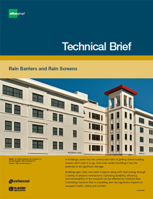 cover of Technical Brief Rain Barriers vs. Rain Screens